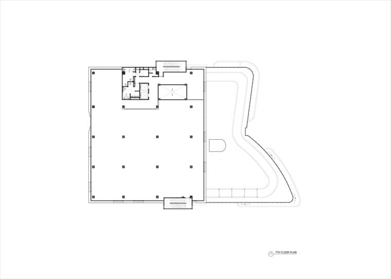 九转回环、流畅现代的车展大厅及办公楼设计_14