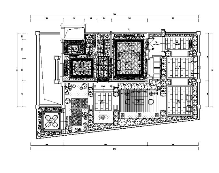 [佛山]知名设计新中式与现代简约别墅样板房设计施工图(含实景图)