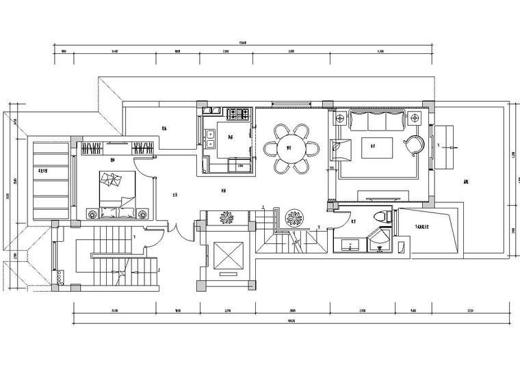 [浙江]杭州昆仑府220方现代法式样板房施工图设计(CAD+实景图)