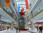 商场中厅3D模型下载
