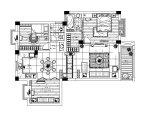 [十堰]现代简约两居室设计施工图