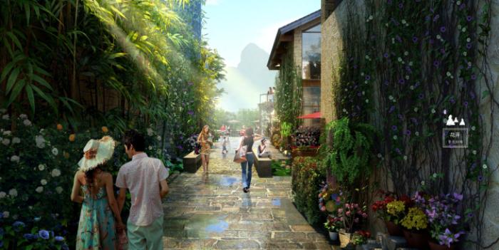 [广西]桂林风情古镇老街乡村景观设计方案(赠项目lumion动画)-效果图8