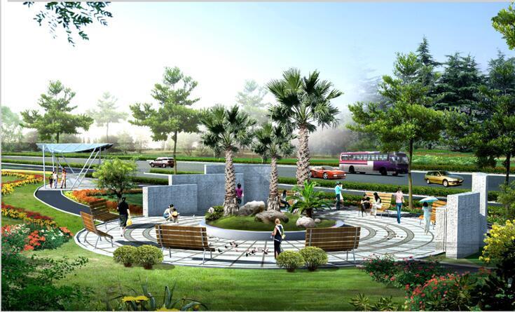 [上海]新江湾城道路景观绿化带全套设计文本(知识,生态)-新江湾城道路景观绿化带-效果图32