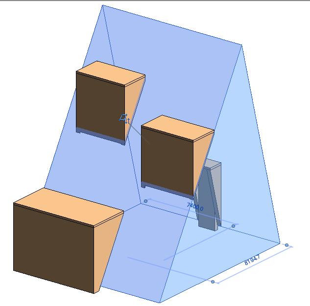 第十一期第四題的斜墻體量創建窗口時無法創建空心模型