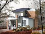 复式风格别墅建筑设计