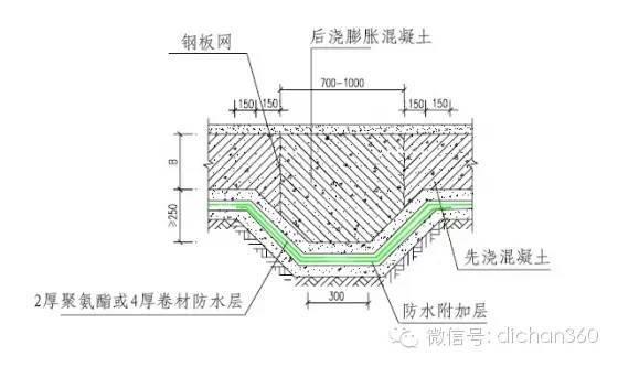 万科集团结构防水细部构造做法