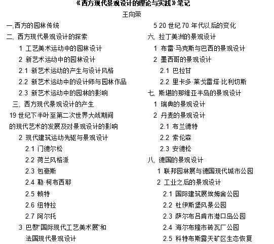 华中科技大学风景园林考研笔记——西方现代景观设计理论与实践