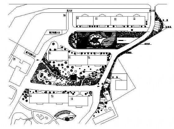 某住宅小区景观绿化施工图