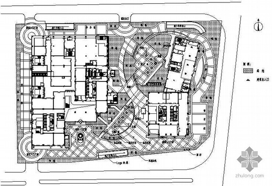 [北京]某商业区中心外环境景观初步设计图