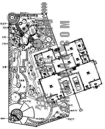 别墅外环境设计平面图