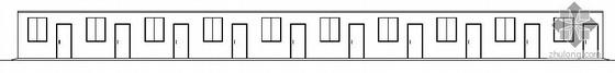某灾区过渡安置活动板房建筑结构扩初图