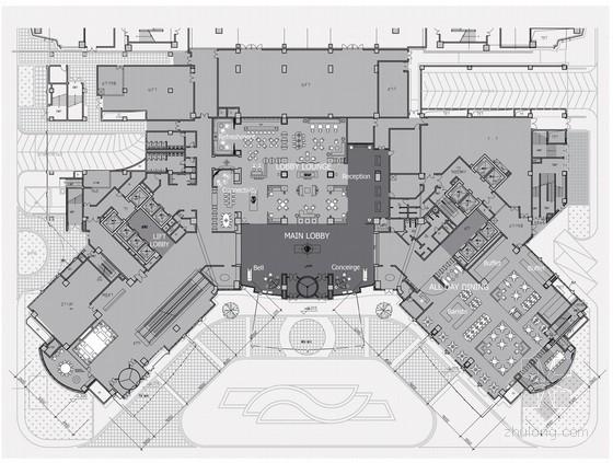 [河南]高级豪华星级酒店现代风格公共区域室内设计方案