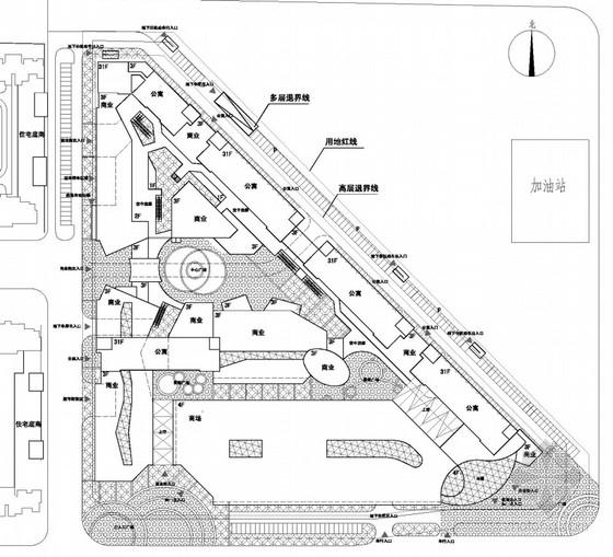 现代风格商业综合体总平面图