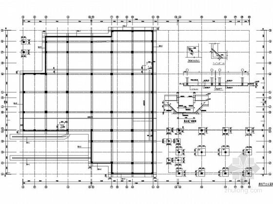 [四川]六层框架结构精神病医院住院楼结构图
