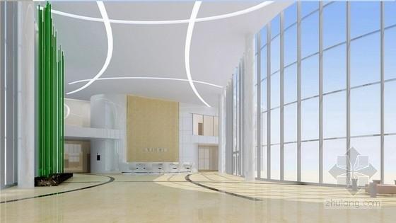[北京]药品监督管理部门现代高档综合楼室内设计方案接见大厅效果图