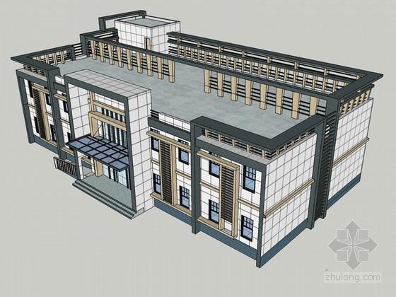 办公建筑SketchUp模型下载