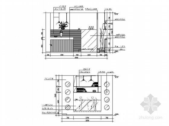 全套客厅立面图CAD图块下载