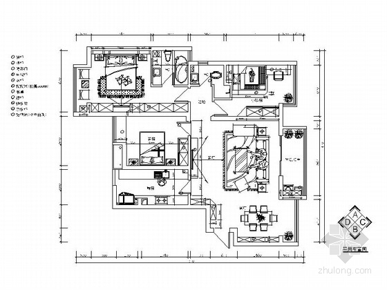 [湖南]现代简约风三居室装修施工图(含效果图)
