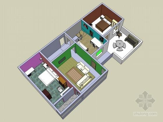 室内家装设计sketchup模型下载