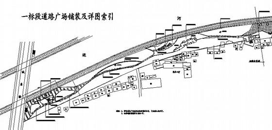 道路广场种植铺装设计图