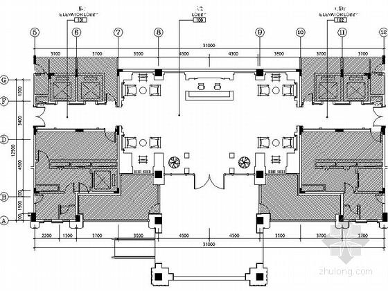 [江苏]名师设计欧式风格售楼处大堂室内装修施工图