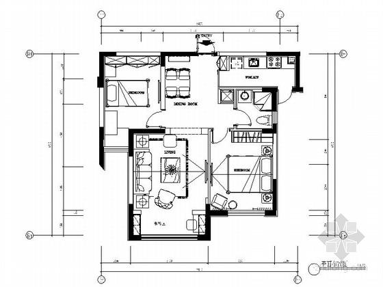 [大连]温馨现代风格两室两厅室内装修图