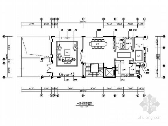 [辽宁]精致美式风格三层别墅装修施工图(含汇报方案)