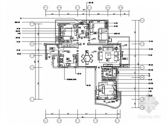 [四川]现代美式风格三居室样板间室内装修施工图(含高清实景图 推荐!)