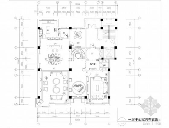 [内蒙古]知名设计公司设计欧式古典豪宅CAD施工图(含效果图)