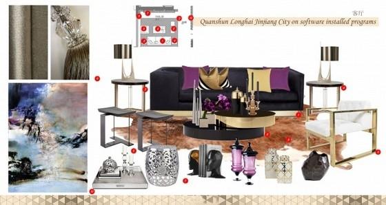 [福建]港式现代奢华风格样板间室内软装设计方案