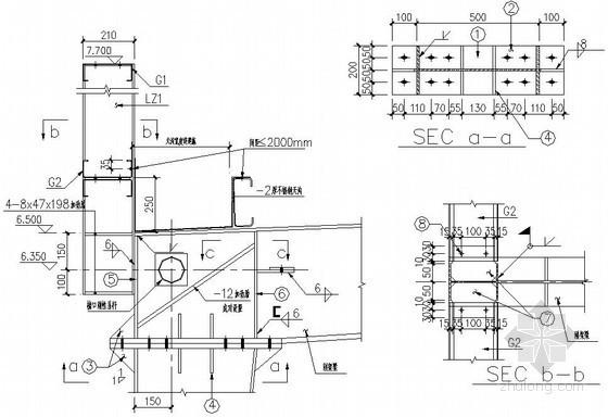 钢结构厂房梁柱连接节点详图