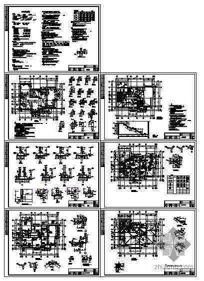 天津市某砖砌体混合别墅结构图