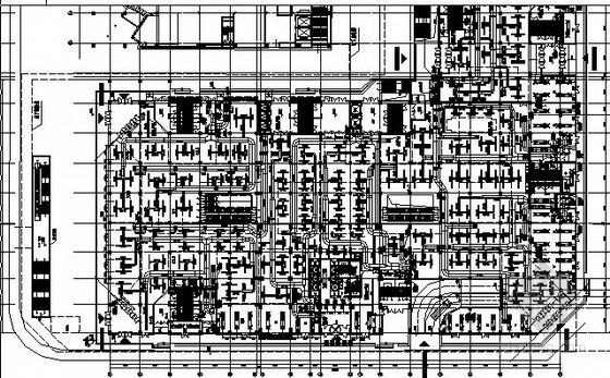 [唐山]大型商业综合体暖通空调设计全套施工图