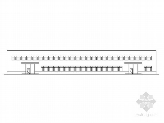 标准化钢结构图资料下载-[长垣]某二层18米钢结构标准化厂房建筑施工图