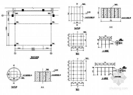 某钢结构雨蓬及连廊结构方案图