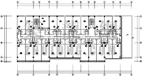 VRV空调设计图资料下载-某学校宿舍楼VRV空调设计图