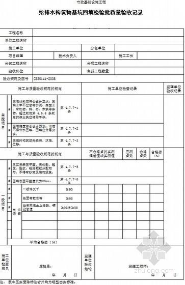 广东市政工程全套统一用表(2010)