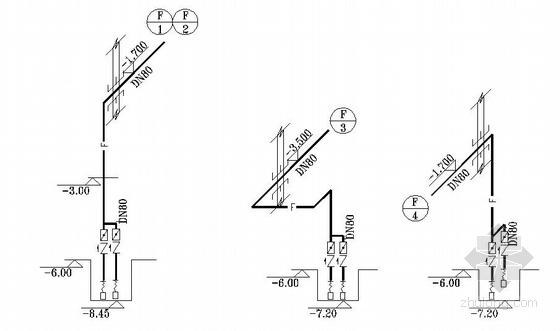 某小区6号高层住宅楼给排水设计施工图