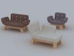 童话沙发3D模型下载
