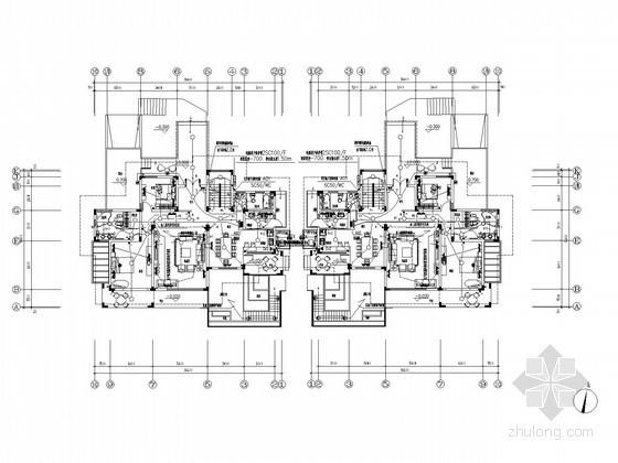[上海]钢结构别墅强弱电系统施工图纸273张(知名设计院)