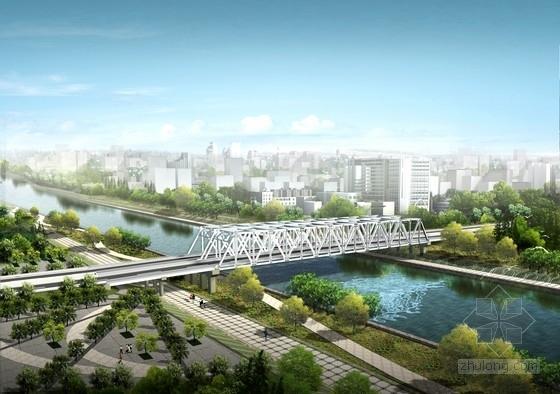 108m单跨简支钢桁梁桥全套设计图(83张 附效果图)