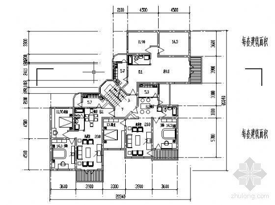 遵义市外环路沙河区修建性规划住宅楼方案图4-3