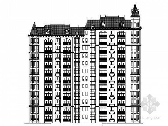 [鄂尔多斯]某十二层简欧式住宅楼建筑施工图
