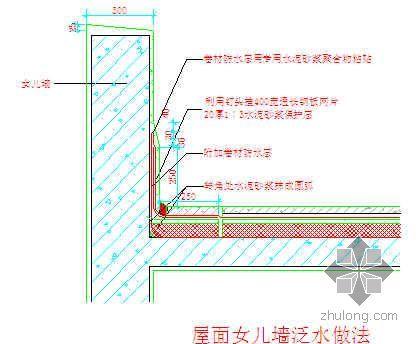 上海某高层住宅小区屋面工程施工方案(挤塑聚苯板 SBC防水卷材 附详图)