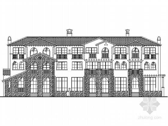 [重庆]某三层西班牙风格联排别墅建筑施工图