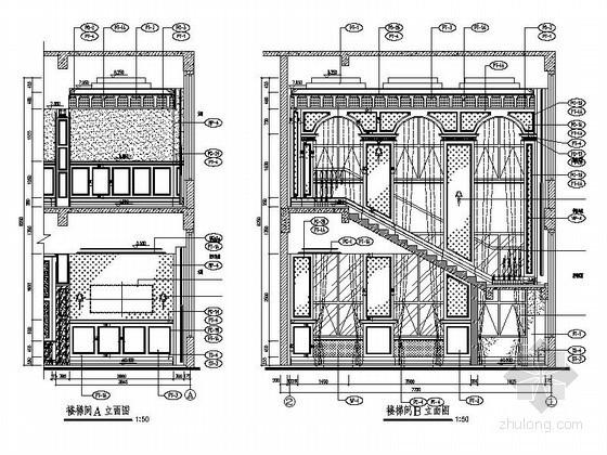 欧式楼梯间立面图
