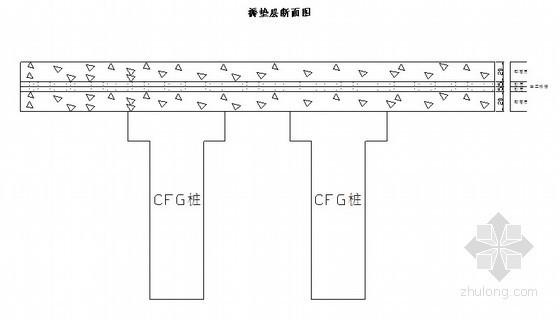 CFG桩基桩帽褥垫层施工工艺(土工格栅)