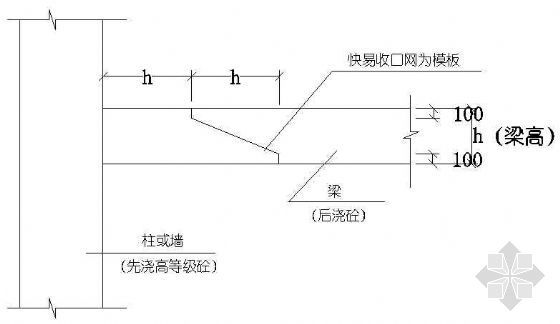 梁柱施工缝处理节点图