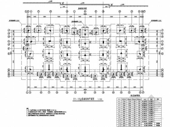 [江苏]三栋三层异形柱框架结构C型低层住宅结构施工图