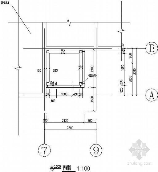 [江苏]宾馆电梯钢结构施工图
